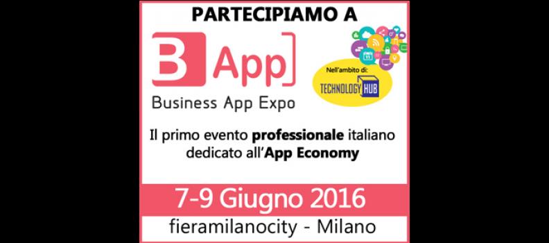 PARTECIPAZIONE FIERA B-APP 7/9 giugno Milano